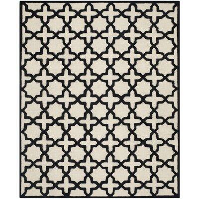 Martins Ivory / Black Area Rug Rug Size: 5 x 8