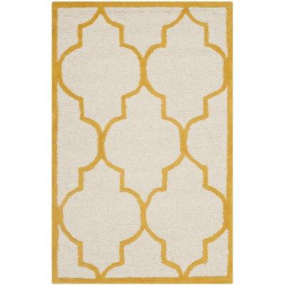 Charlenne Ivory / Gold Rug Rug Size: 3 x 5