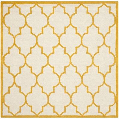Charlenne Ivory / Gold Rug Rug Size: Square 6