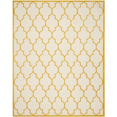 Charlenne Ivory / Gold Rug Rug Size: 8 x 10