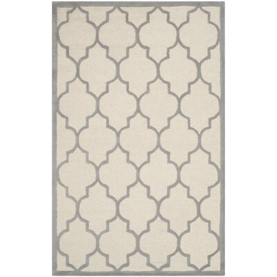 Charlenne Ivory / Silver Area Rug Rug Size: 3 x 5