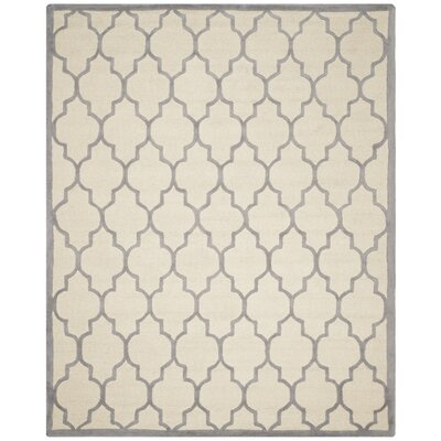 Martins Ivory / Silver Area Rug Rug Size: 8 x 10