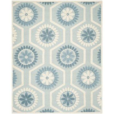 Martins Blue/Ivory Area Rug Rug Size: 8 x 10