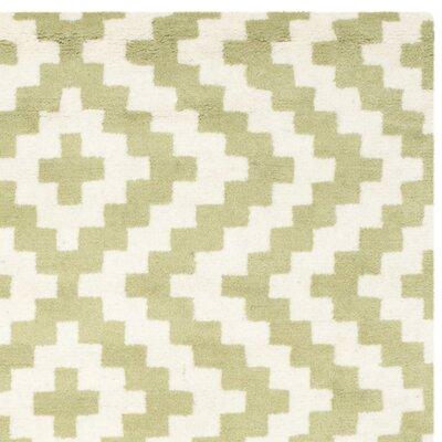 Martins Ivory & Light Green Area Rug Rug Size: Square 6