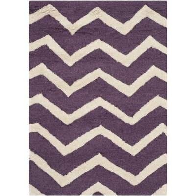 Martins Purple / Ivory Area Rug Rug Size: 2' x 3'