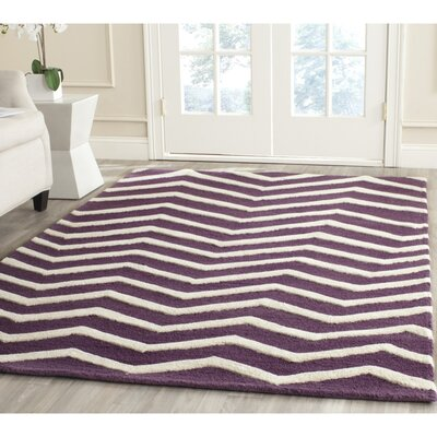Charlenne Hand-Tufted Purple/Ivory Area Rug Rug Size: Rectangle 2 x 3