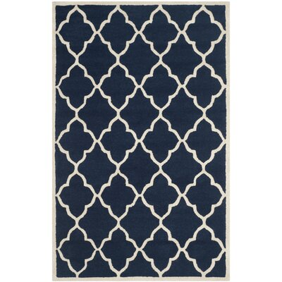 Martins Navy / Ivory Area Rug Rug Size: 2 x 3