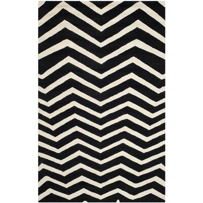 Charlenne Black/Ivory Area Rug Rug Size: 8 x 10