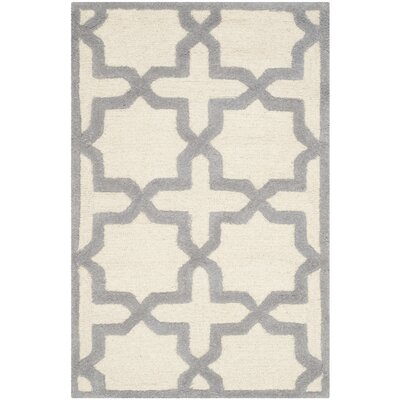 Martins Ivory / Silver Area Rug Rug Size: Rectangle 26 x 4