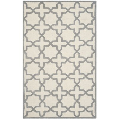 Martins Ivory / Silver Area Rug Rug Size: Rectangle 4 x 6