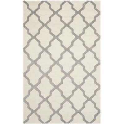 Charlenne Hand-Tufted Ivory Area Rug Rug Size: Rectangle 12 x 18