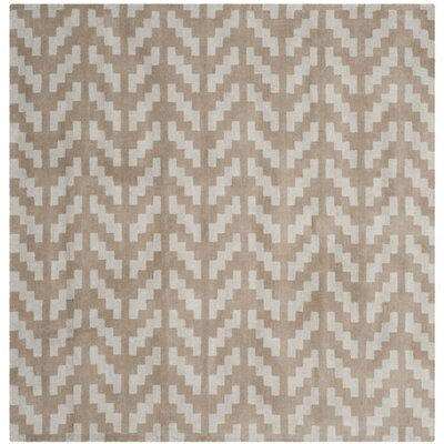 Martins Grey / Taupe Area Rug Rug Size: Square 6