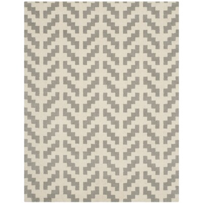 Martins Grey & Ivory Area Rug Rug Size: Rectangle 8 x 10