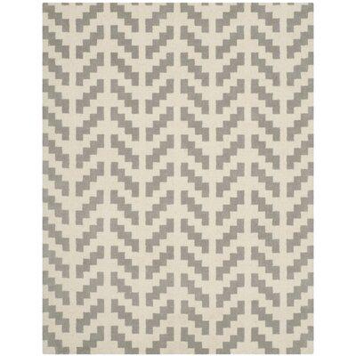 Martins Grey & Ivory Area Rug Rug Size: 3 x 5