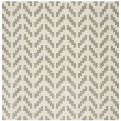 Martins Grey & Ivory Area Rug Rug Size: Square 6