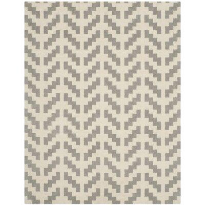 Martins Grey & Ivory Area Rug Rug Size: 8 x 10