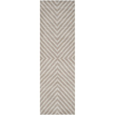 Martins Grey & Taupe Area Rug Rug Size: Runner 26 x 8
