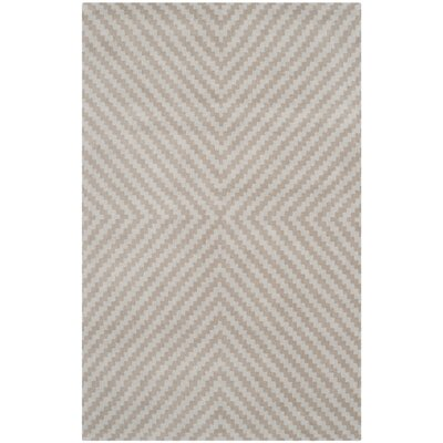 Martins Grey & Taupe Area Rug Rug Size: 4 x 6