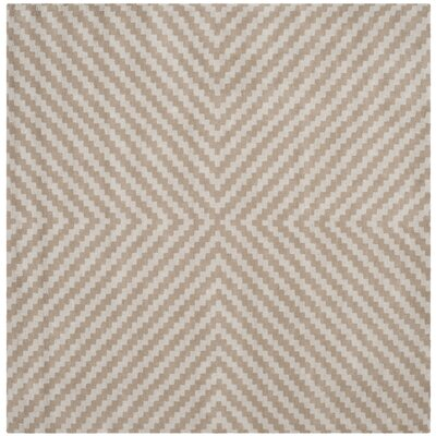 Martins Grey & Taupe Area Rug Rug Size: Square 6