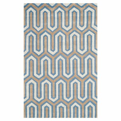 Martins Hand-Tufted Navy/Gray Area Rug Rug Size: Rectangle 5 x 8