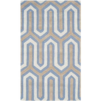 Martins Navy / Grey Area Rug Rug Size: 4 x 6