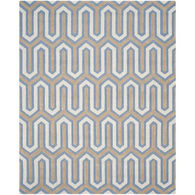 Martins Navy / Grey Area Rug Rug Size: 8 x 10