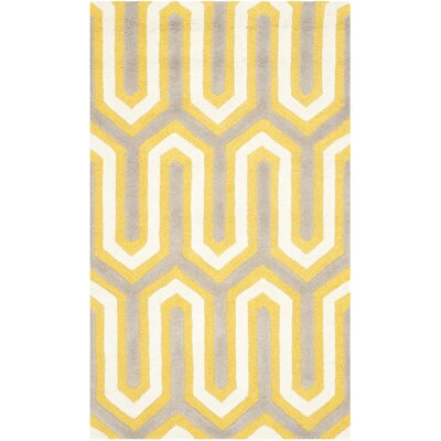 Martins Gold / Light Brown Area Rug Rug Size: 3 x 5