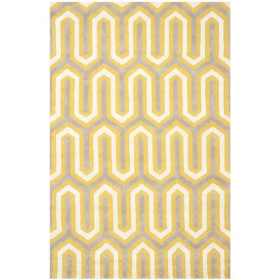 Martins Gold / Light Brown Area Rug Rug Size: 4 x 6
