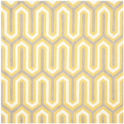Martins Gold / Light Brown Area Rug Rug Size: Square 6