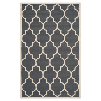 Martins Dark Grey/Ivory Area Rug Rug Size: 6 x 9