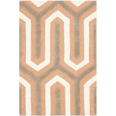 Martins Orange / Grey Area Rug Rug Size: 3 x 5