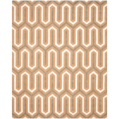 Martins Orange / Grey Area Rug Rug Size: 8 x 10