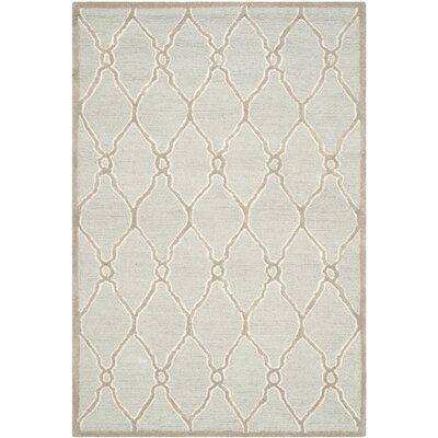 Martins Light Grey / Ivory Area Rug Rug Size: 6 x 6