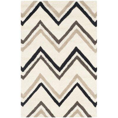 Martins Ivory / Black Area Rug Rug Size: 26 x 4
