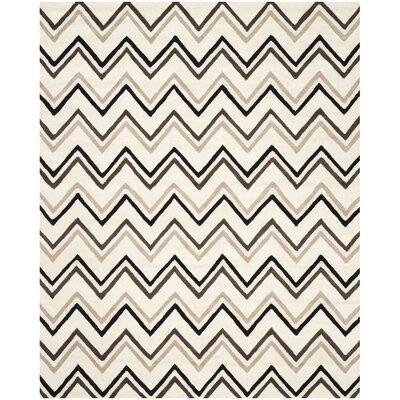 Charlenne Wool Ivory / Black Area Rug Rug Size: 8 x 10