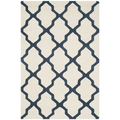 Charlenne Hand-Tufted Ivory Area Rug Rug Size: Rectangle 4 x 6
