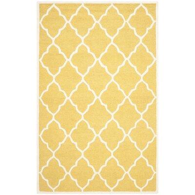 Charlenne Gold / Ivory Area Rug Rug Size: 5 x 8