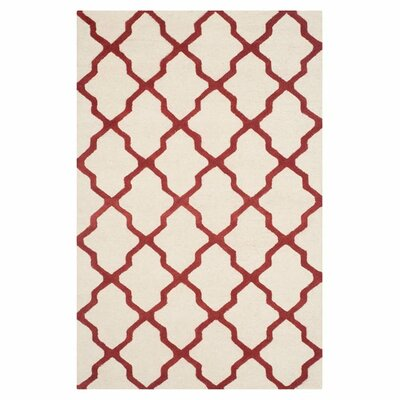 Martins Ivory / Rust Area Rug Rug Size: 26 x 4