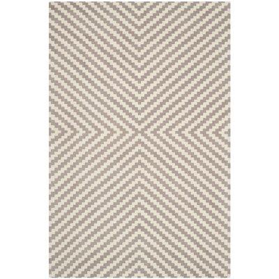 Martins Grey & Ivory Area Rug Rug Size: 5 x 7