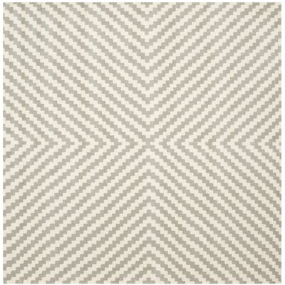 Martins Grey & Ivory Area Rug Rug Size: Rectangle 6 x 6