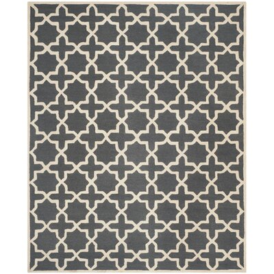 Martins Dark Grey/Ivory Area Rug Rug Size: 11 x 15