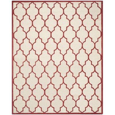 Charlenne Ivory / Rust Area Rug Rug Size: 5 x 8