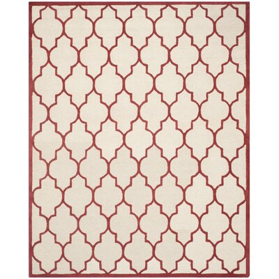 Martins Ivory / Rust Area Rug Rug Size: 8 x 10
