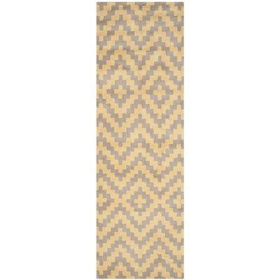 Martins Hand-Tufted Taupe/Gold Area Rug Rug Size: Runner 26 x 8