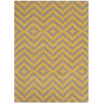Martins Taupe & Gold Area Rug Rug Size: 3 x 5