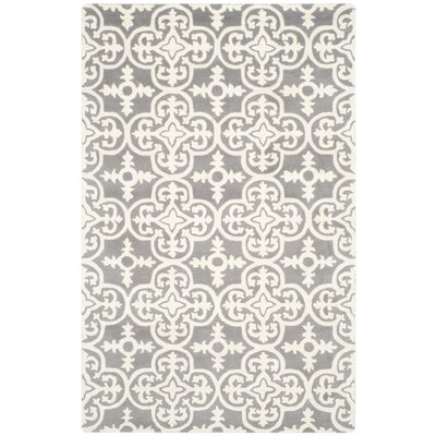 Wilkin Dark Grey / Ivory Contemporary Rug Rug Size: 5 x 8