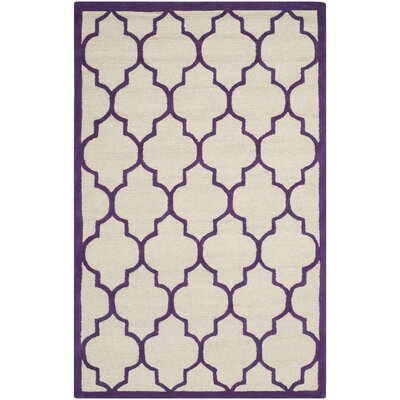 Martins Ivory/Purple Area Rug Rug Size: 4 x 6