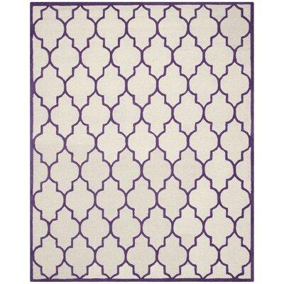 Martins Ivory/Purple Area Rug Rug Size: 8' x 10'