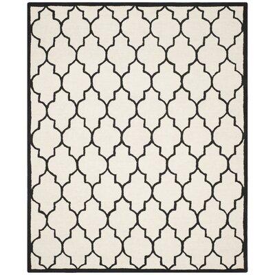 Charlenne Ivory / Black Area Rug Rug Size: 9 x 12