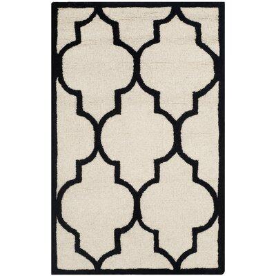 Charlenne Ivory / Black Area Rug Rug Size: 2 x 3